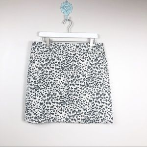 LOFT Leopard Print Skirt Size Lg Petite